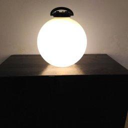 Tama Black & White vloer lamp door Isao Hosoe for Valenti, 1975